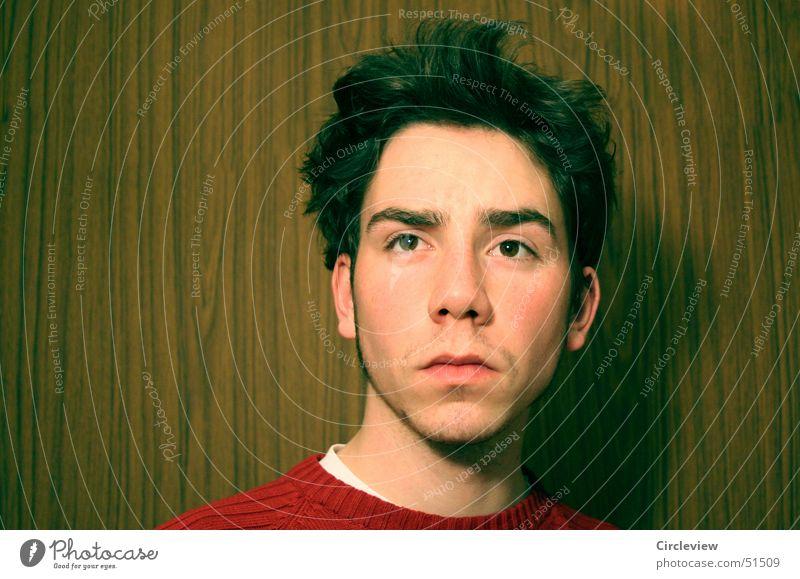 Und ich dachte an den verwegenen Typen Porträt Mann Mensch Kopf Gesicht Auge Nase Mund Ohr humans head face eyes nose mouth ears
