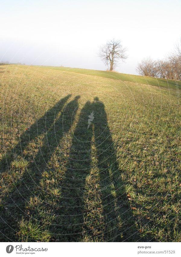 Die Schattenuhr zeigt Vier Natur Winter