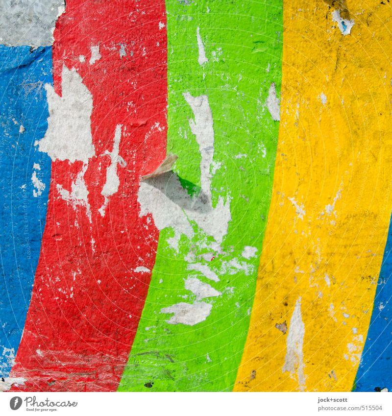 Farbe-bunt-wunderbar hell Design leuchten frisch Dekoration & Verzierung Kraft Fröhlichkeit ästhetisch Lebensfreude einfach retro einzigartig Papier kaputt