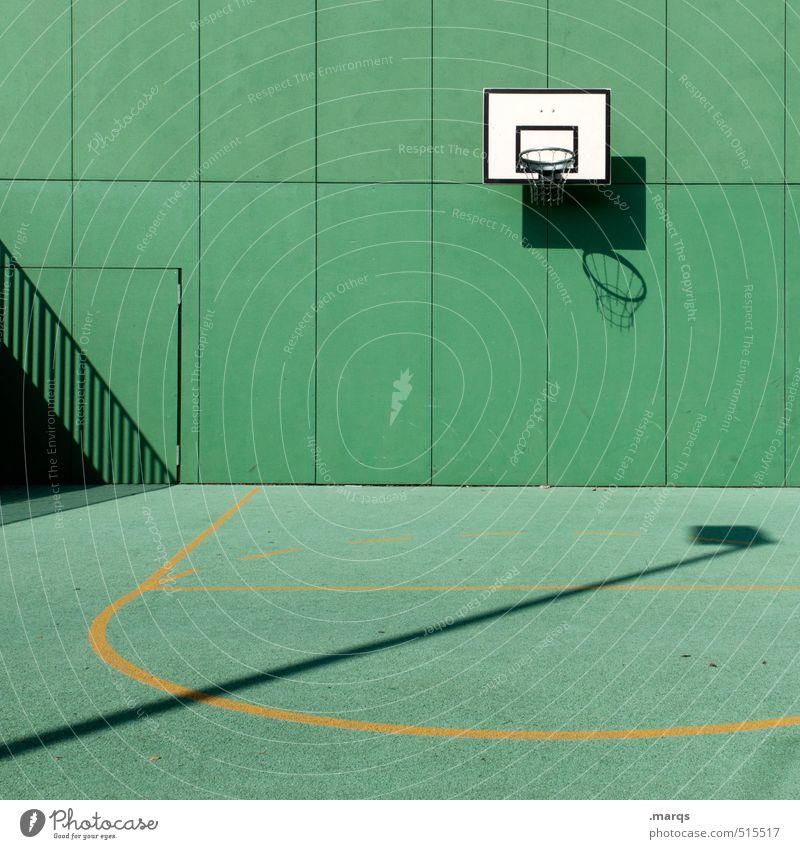Korb grün Wand Sport Mauer Spielen Stil Freizeit & Hobby Lifestyle Ordnung modern neu trendy Sportveranstaltung Basketball Ballsport Basketballkorb