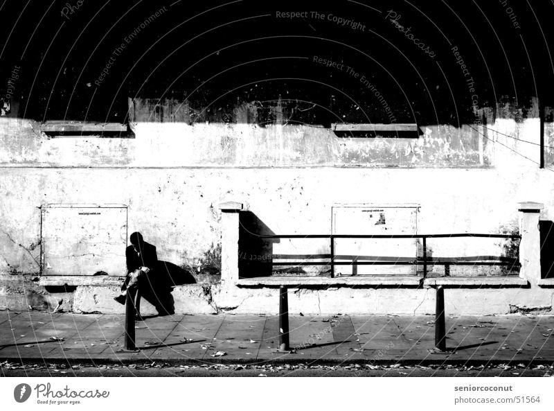 Der Nachdenkliche Istanbul Türkei Mann Lagerhaus Bosporus Europa Industriefotografie Straße