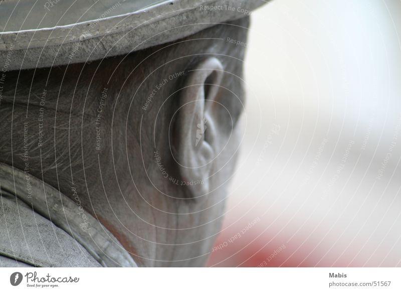 Komplett in Silber Mann Ohr Hut silber Pantomime