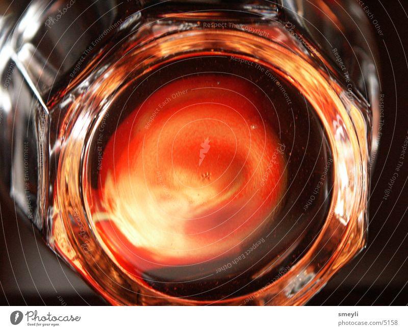 Warmes Glas rot Licht glänzend Geometrie Makroaufnahme Nahaufnahme Strukturen & Formen