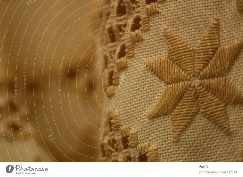 Tischdecke Wärme Stern (Symbol) Physik Stoff Handwerk Muster Decke Nähgarn Textilien Handarbeit