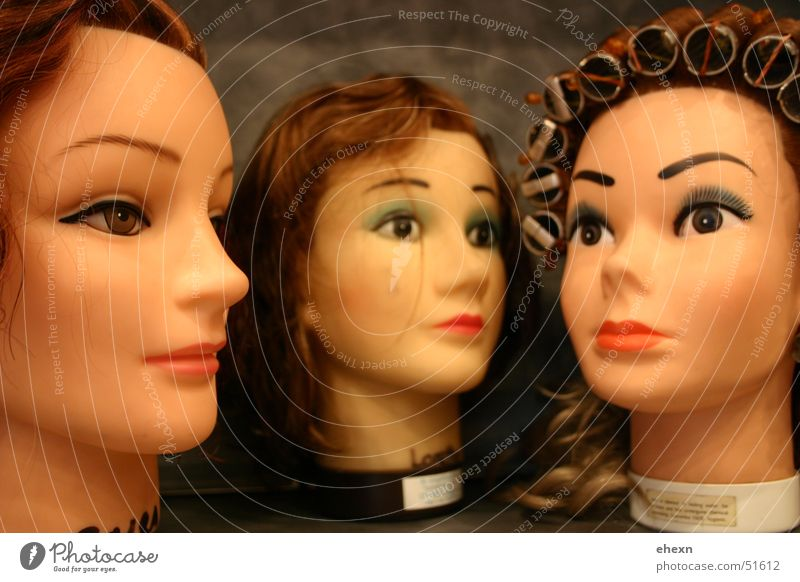 Keep ya head up Haare & Frisuren Kopf Statue Puppe Friseur Gummi