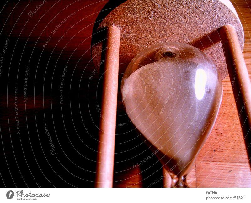 Zeit 2 Sanduhr Holz Glas