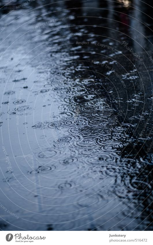 Drip Drip Drip Wasser Wassertropfen Herbst schlechtes Wetter Regen kalt nass trist Stadt blau schwarz Traurigkeit Trauer Liebeskummer Enttäuschung Einsamkeit