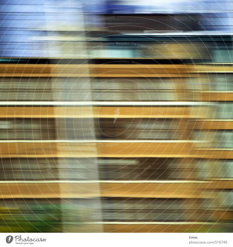 backseat impression Stadt Haus Ferne Bewegung Wege & Pfade Hochhaus Geschwindigkeit Vergänglichkeit fahren Güterverkehr & Logistik Balkon bizarr Euphorie Rausch