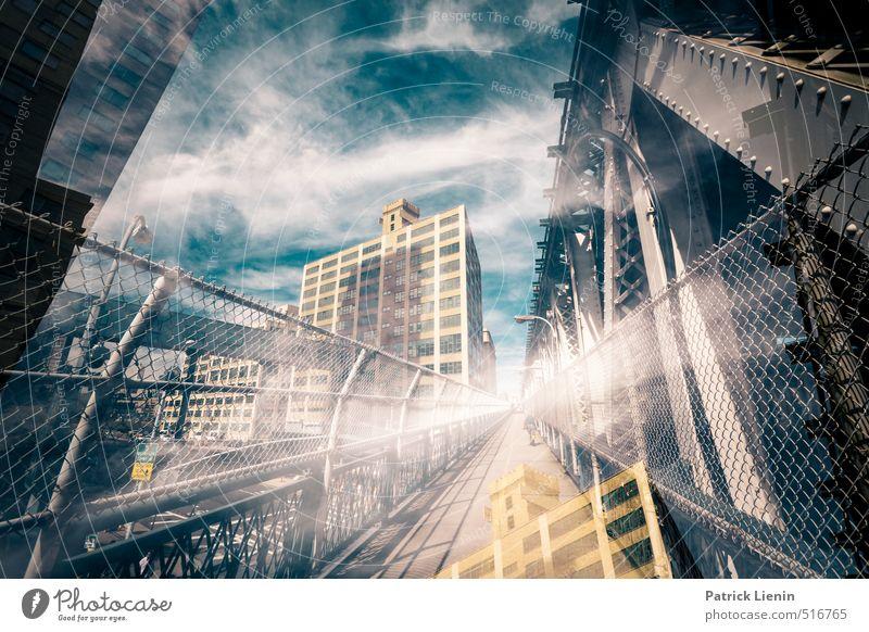 Manhattan Bridge Lifestyle elegant Ferien & Urlaub & Reisen Ausflug Abenteuer Stadt Stadtzentrum bevölkert Hochhaus Bauwerk Gebäude Architektur Zufriedenheit