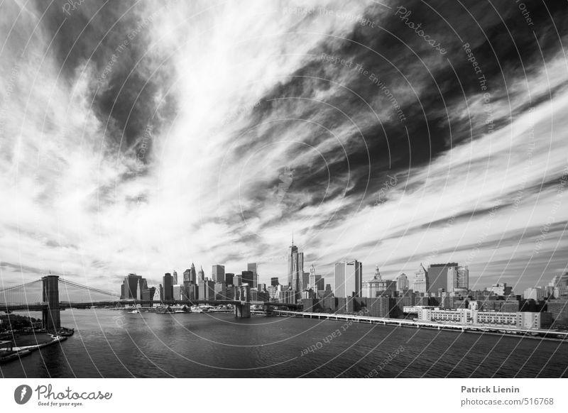 Bridging the Water (inspired by Les) Himmel Stadt schön Wasser Wolken Umwelt Gebäude Architektur Wetter Hochhaus Aussicht Urelemente einzigartig Fluss USA