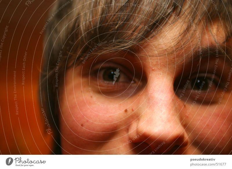 Jean - at any moment maskulin Mann Überraschung Gesicht Auge Nase Blick Haare & Frisuren Detailaufnahme Momentaufnahme