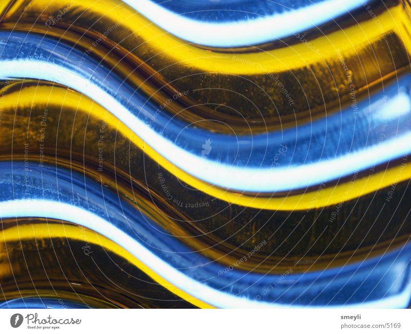 Wellenreiter 02 gelb geschwungen Fototechnik Glas durchsichtig Lampe