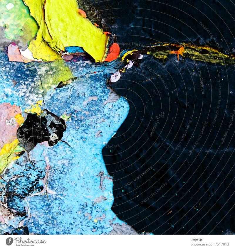 Vielschichtig alt Farbe Graffiti Wand Farbstoff Mauer Stil Kunst Hintergrundbild Lifestyle Design Beton kaputt Vergänglichkeit Coolness Wandel & Veränderung