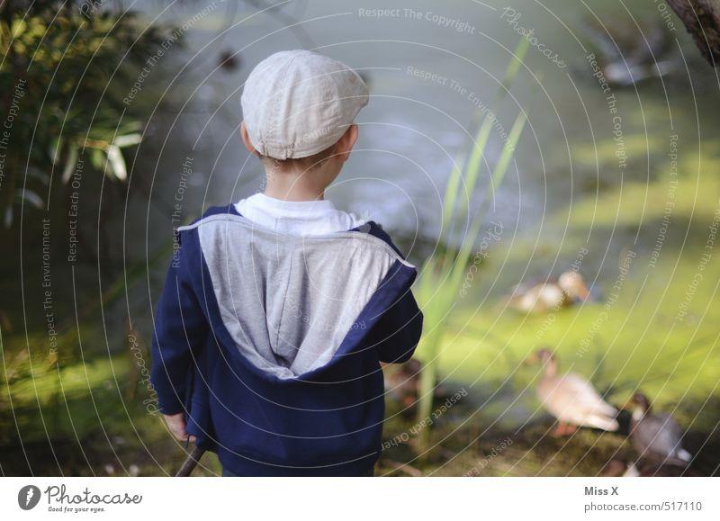 Angler Freizeit & Hobby Spielen Angeln Kinderspiel Mensch maskulin Kindheit 1 3-8 Jahre Wasser Küste Flussufer Teich See sitzen warten Stimmung geduldig ruhig
