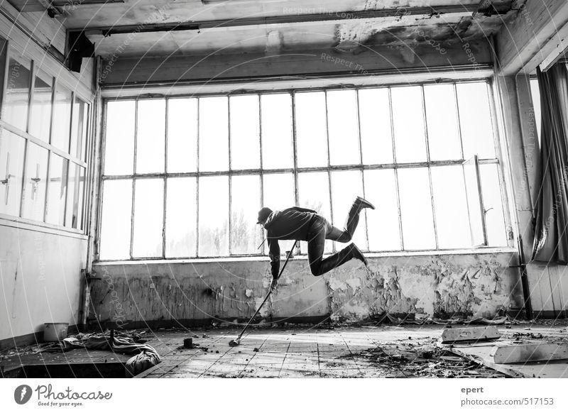 ut ruhrgebiet | Tatortreiniger 2.0 Mensch Jugendliche Junger Mann Bewegung lustig springen Arbeit & Erwerbstätigkeit fliegen dreckig frei Fröhlichkeit verrückt