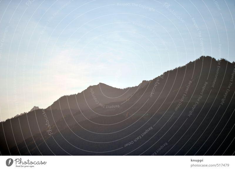 Glarnerland Umwelt Natur Landschaft Urelemente Luft Himmel Wolkenloser Himmel Sonne Sonnenaufgang Sonnenuntergang Sonnenlicht Sommer Klimawandel Wetter