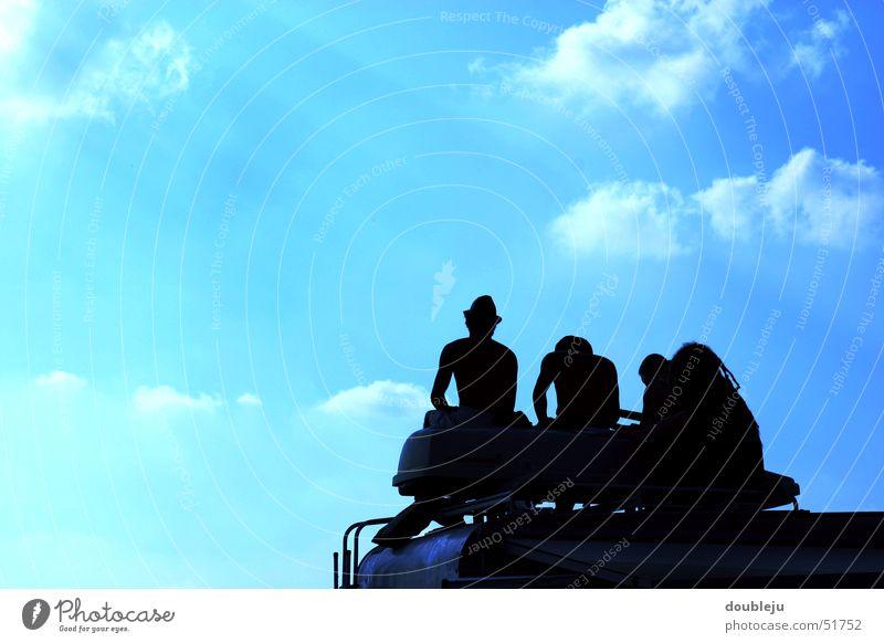 ausblick Wolken Aussicht Camping Wohnwagen Sommer Erholung Freundschaft Open Air Himmel Silhouette Musikfestival Mensch taubertal