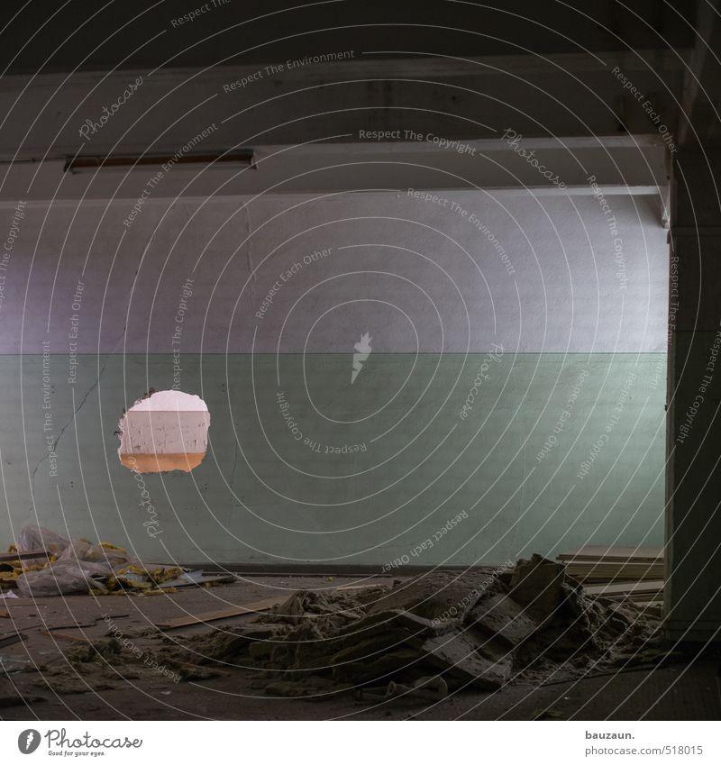 ut ruhrgebiet | loch hinterlassen. Renovieren Keller Dachboden Fabrik Handwerk Baustelle Industrieanlage Ruine Mauer Wand Fassade Stein Beton trashig trist grau