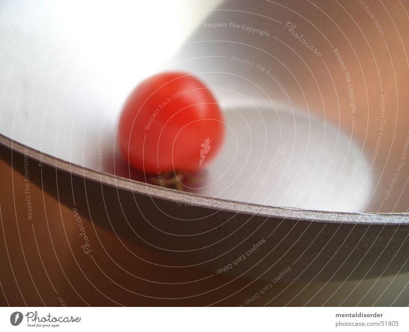 allein rot Am Rand Küche kochen & garen Tomate Schalen & Schüsseln silber Ernährung