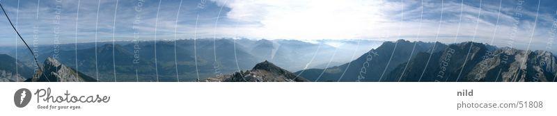 Panorama Hochnisslspitze Natur Sonne Sommer Wolken Berge u. Gebirge groß Alpen Alpen Panorama (Bildformat) Himmel Bundesland Tirol Bergkette alpin Österreich Zentralalpen