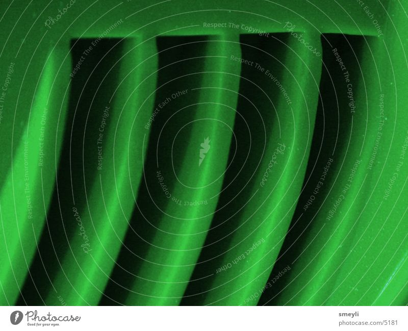 grüne lamellen Steg Lamelle Schlitz Makroaufnahme Lüftung