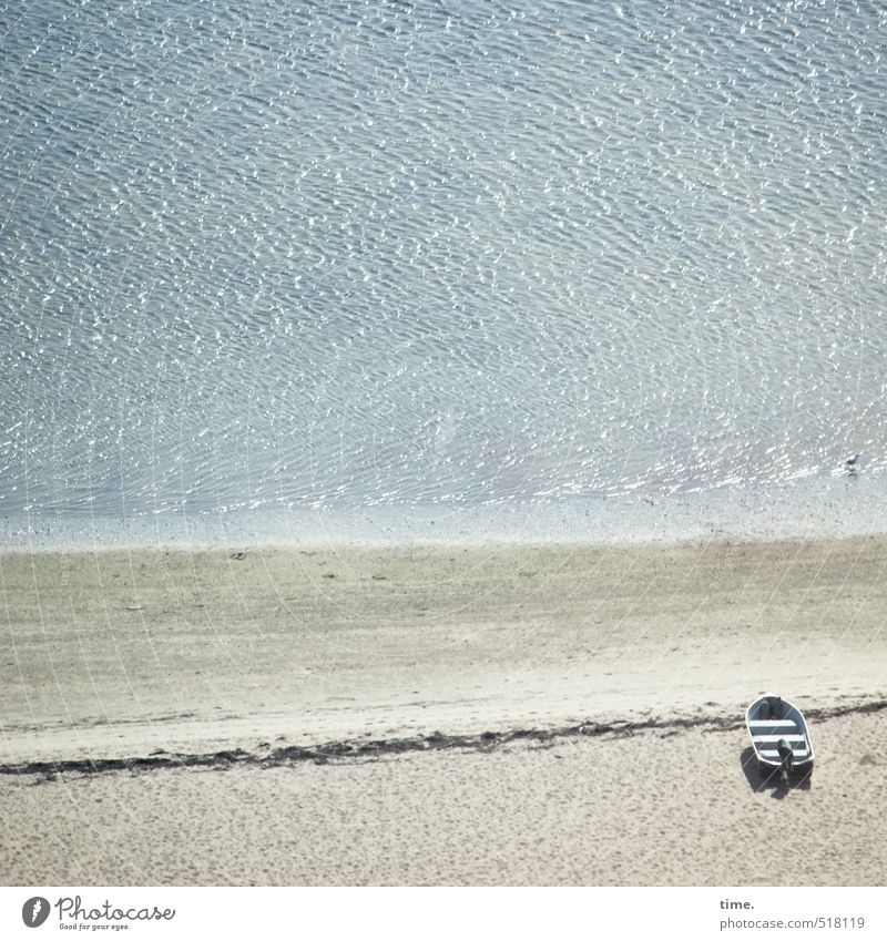 Ruhige Zeiten Natur Ferien & Urlaub & Reisen Wasser Meer Einsamkeit Landschaft ruhig Ferne Umwelt Wege & Pfade Küste Sand liegen Stimmung Freizeit & Hobby