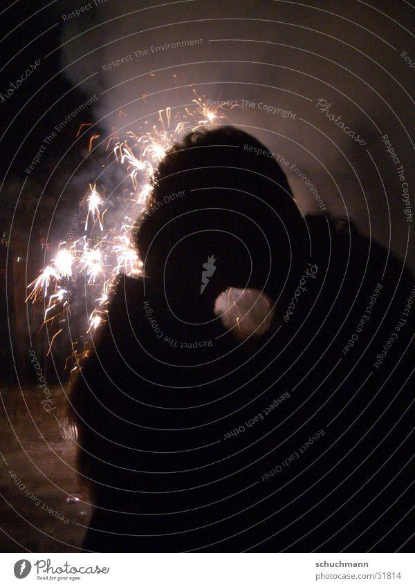 ein gutes neues Jahr Liebe Silvester u. Neujahr Küssen Feuerwerk