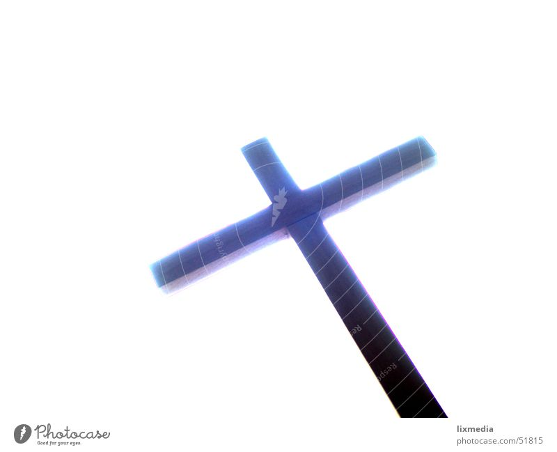 die richtung stimmt blau weiß Tod Holz Religion & Glaube Rücken Hoffnung Flüssigkeit Gott Rettung Götter Erlösung