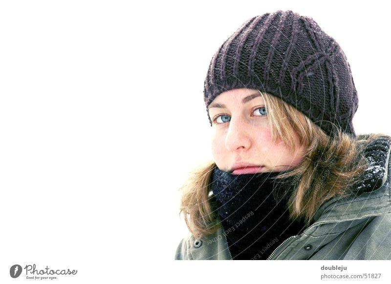 andrea im winter #1 Winter Mütze Jacke Schal kalt Porträt