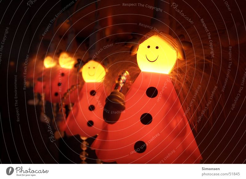 Engelchen Lampe lachen Wärme Engel Physik Lichterkette Glühkopf