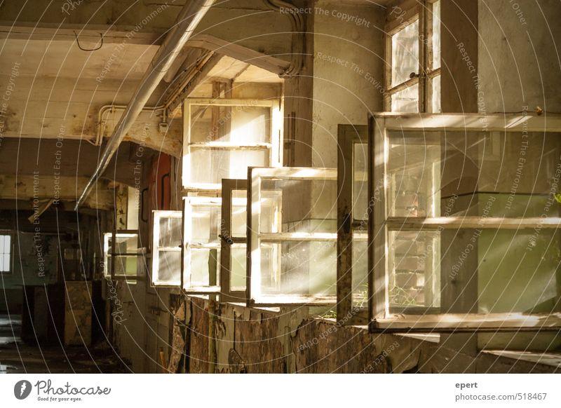 ut ruhrgebiet | Lüften Industrieanlage Fabrik Ruine Gebäude Mauer Wand Fenster alt dreckig trashig trist Stadt stagnierend Verfall Vergangenheit Vergänglichkeit