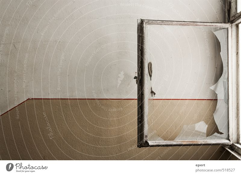 ut ruhrgebiet | Stoßlüften Mauer Wand Fenster offen Windzug alt dreckig kaputt trashig trist stagnierend Verfall Wandel & Veränderung Häusliches Leben