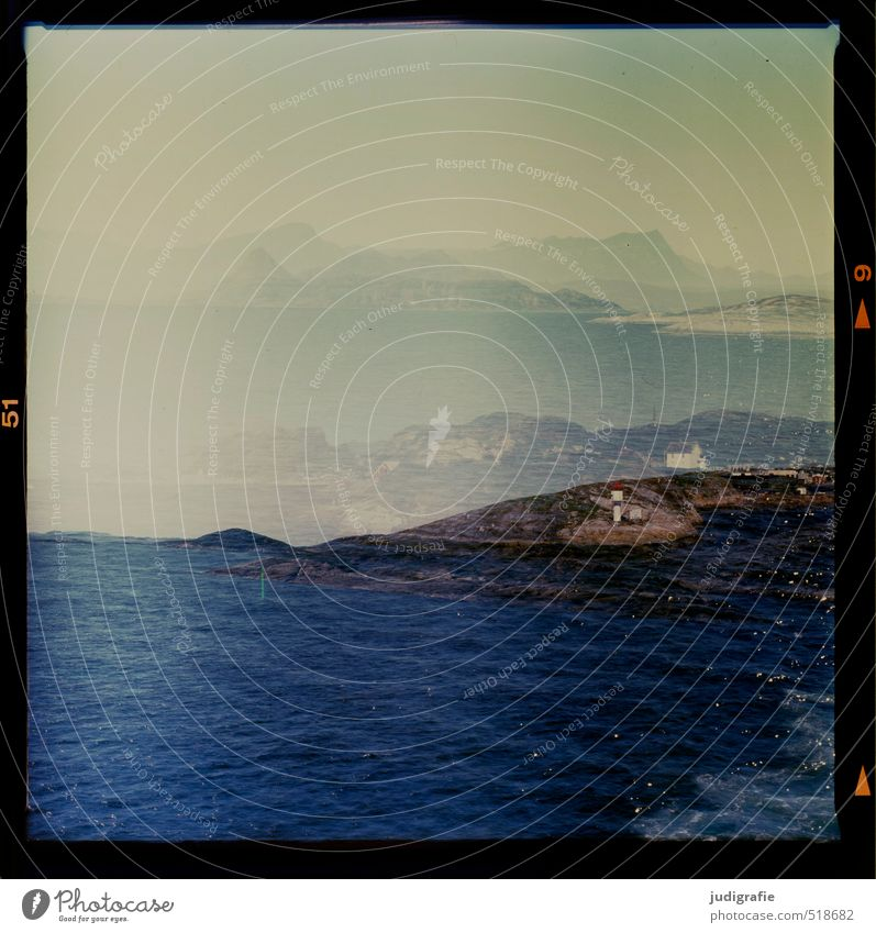 Norwegen Natur Ferien & Urlaub & Reisen blau Wasser Meer Landschaft Haus dunkel kalt Umwelt Küste außergewöhnlich Felsen träumen Stimmung wild
