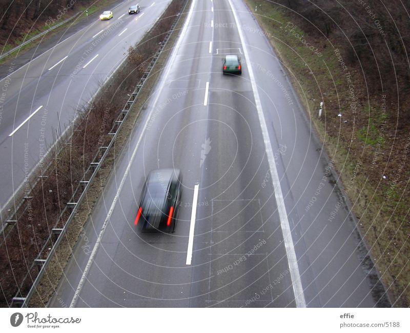 Autobahn PKW Verkehr Brücke Fahrbahn
