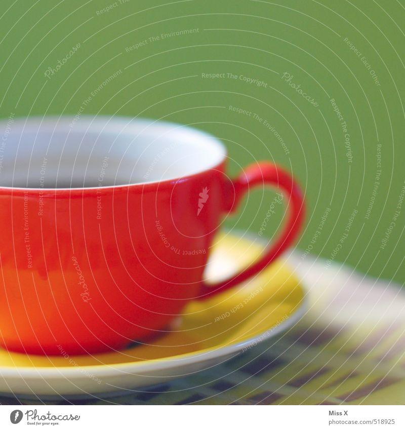 Kaffee 10:20 Lebensmittel Ernährung Frühstück Kaffeetrinken Büffet Brunch Getränk Heißgetränk Tee Tasse Restaurant heiß mehrfarbig rot Stimmung Fröhlichkeit