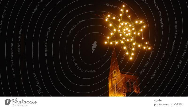 Der Stern von Bethlehem? Glühbirne Nacht Weihnachtsdekoration Weihnachten & Advent Beleuchtung Religion & Glaube Turm Stern (Symbol)