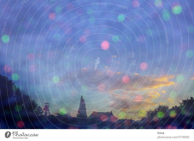colorwaschgang für bochum Stadt blau grün Farbe rosa Design träumen Kreativität Wunsch Skyline Wahrzeichen trendy Inspiration Doppelbelichtung Frühlingsgefühle