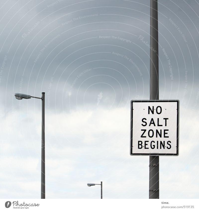 Zeitumstellung | coming soon ... Himmel Wolken Ferne Straße Wege & Pfade Lampe Verkehr Schilder & Markierungen Ordnung Schriftzeichen Hinweisschild bedrohlich