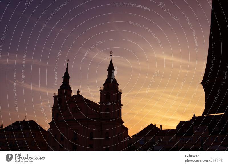 Gottes Zorn schwarz gelb Architektur gold ästhetisch bedrohlich Kirche Romantik violett Wut Bauwerk Sehenswürdigkeit Dom