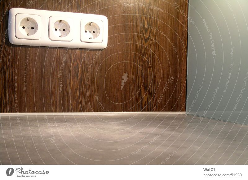 Steck im Eck Holz Kraft Glas Elektrizität Küche Steckdose Maserung Silikon