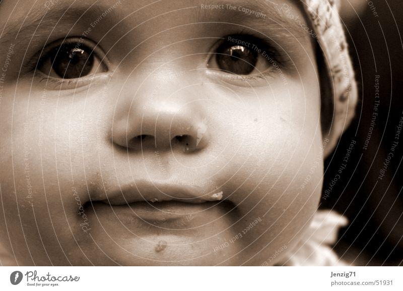 Hermine. Kind Gesicht Mund Baby