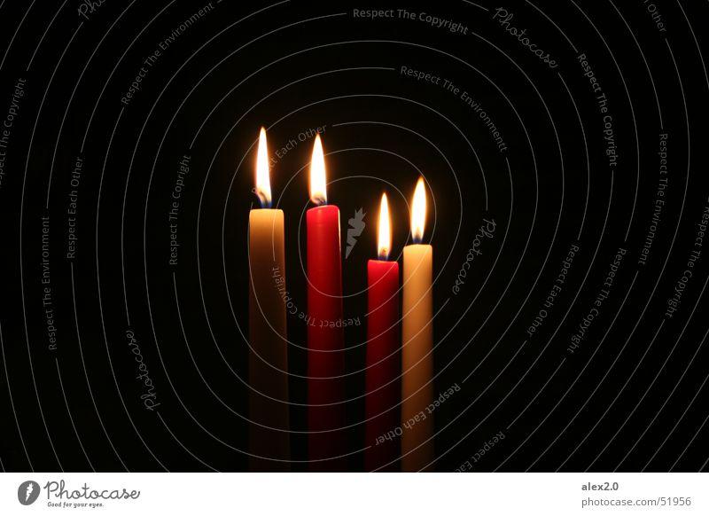 burning down the house... da da da... Kerze weiß rot schwarz dunkel Nacht Licht Erkenntnis brennen Beleuchtung Flamme Lichterscheinung