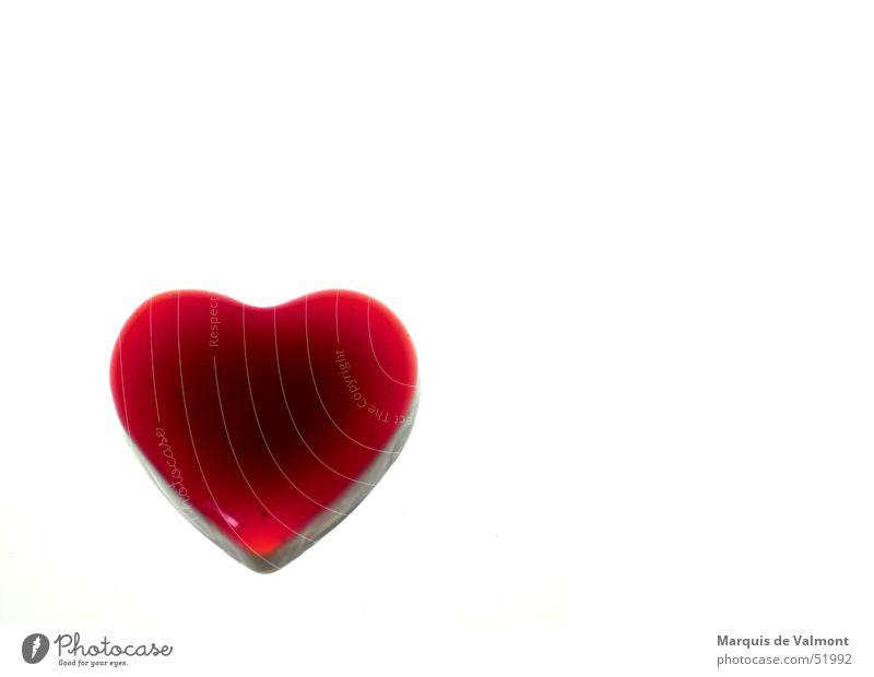 Vorsicht, zerbrechlich! rot Liebe Herz Glas Valentinstag