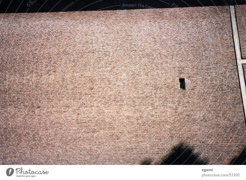 Fenster zum Hof ruhig Einsamkeit Wand Mauer Teilung Öffnung