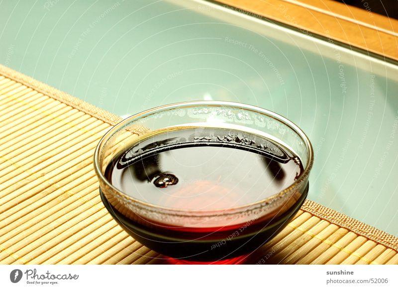 Teatime Winter ruhig Tisch Pause Tee harmonisch Bambusrohr Schwarzer Tee Teeglas