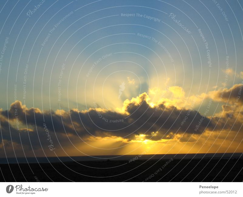 Sonnenstrahlen Himmel Wolken