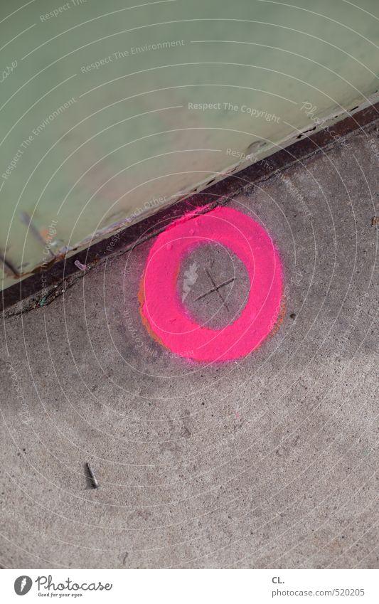 + Fabrik Handwerk Baustelle Stein Beton Stahl Zeichen Stadt rosa Schraube Kreis Tür industriell Industrieanlage Schilder & Markierungen rund Kreuz Boden