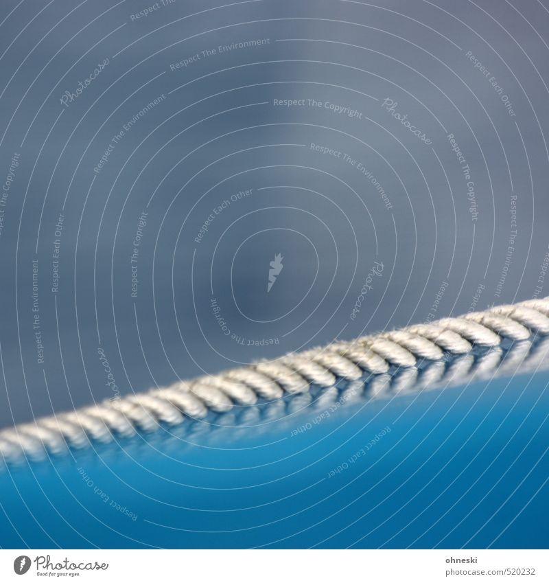Seilschaft blau Linie Schnur Schifffahrt Bootsfahrt