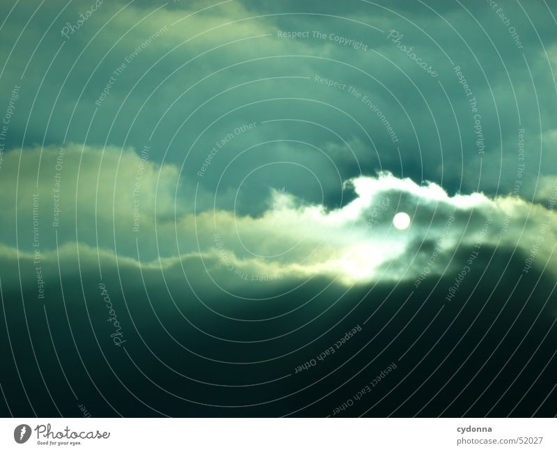 Sonnenuntergang schwarz Eindruck Wolken Stimmung Winter Gefühle Himmel Himmelskörper & Weltall blau Beleuchtung