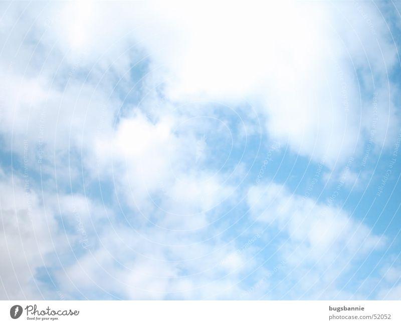 Himmel weiß Sonne blau Sommer Wolken Wetter Schönes Wetter